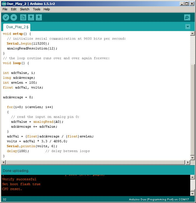 Evaluating Arduino and Due ADCs