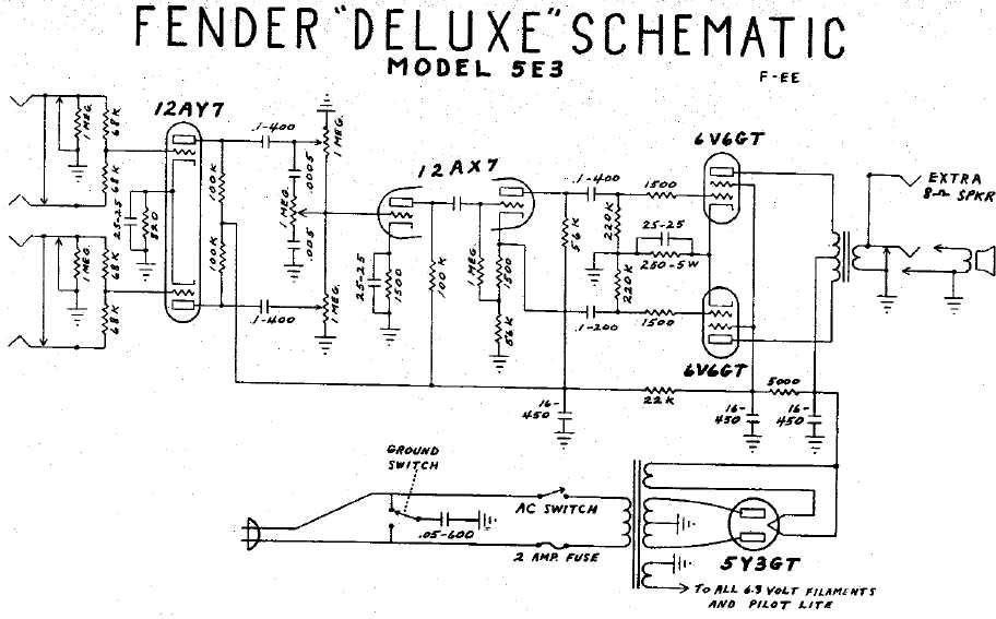fun with tubes rh djerickson com fender mustang amp wiring diagram